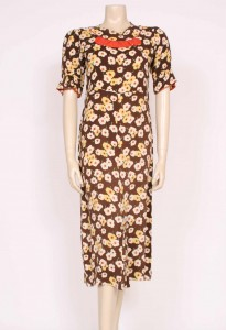 Crepe pansy dress from Prim Vintage Fashion, £145