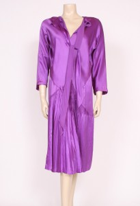 1920's purple silk evening dress from Prim Vintage Fashion, £245